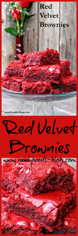 Red Velvet Brownies - Newlyweds